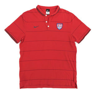 Nike USA Soccer Mens Size XL Polo Shirt Red